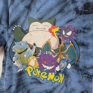 Vintage Pokémon T Shirt 1999 Tie Dye Small Blue Ni
